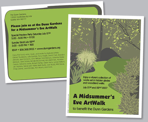 Dunn Gardens Artwalk postcard