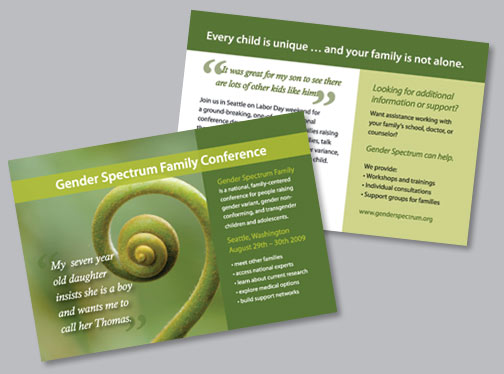 Gender Spectrum Family Conference postcard